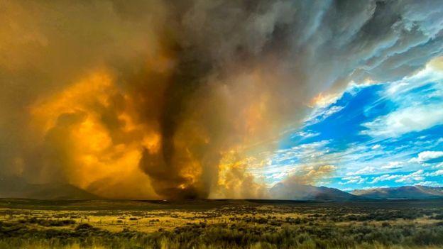Firenado in Lassen County on 15 August