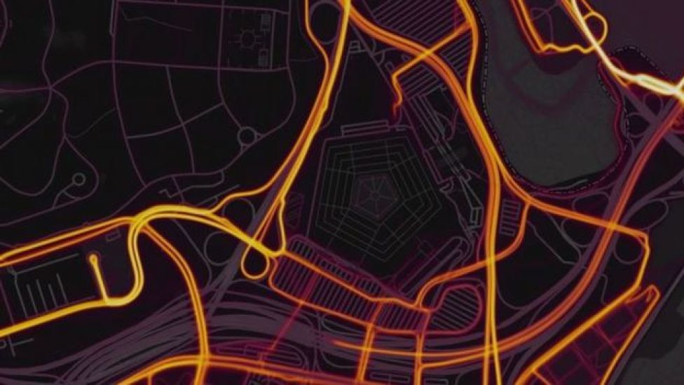 Strava screengrab of the Pentagon