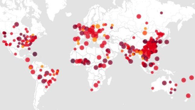 يتعقب موقع Healthmap.org تفشي الأمراض وتسجيلها في جميع أنحاء العالم