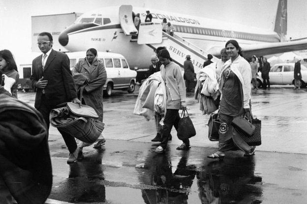 Wahindi waliokuwa wakiishi nchini Uganda walilazimika kuondoka mnamo mwaka 1972