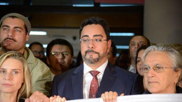 Ato de apoio ao juiz federal Marcelo Bretas