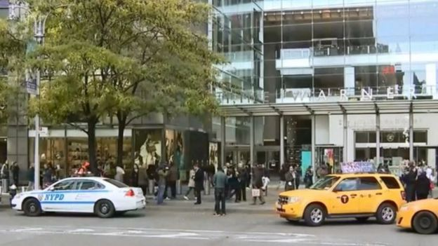 The Time Warner building in New York City was evacuated on Wednesday morning