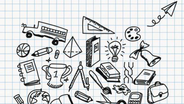 Dibujos sobre papel cuadriculado.