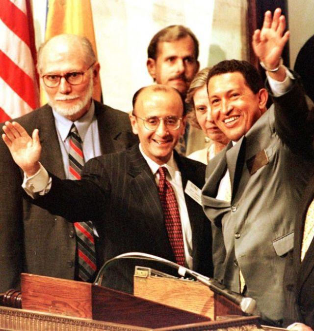 Hugo Chávez em Wall Street em 1999