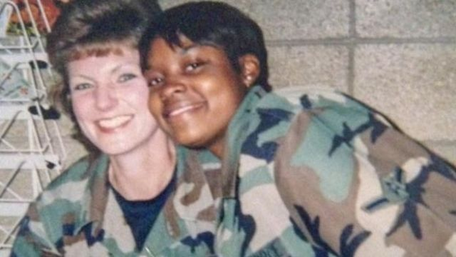 Janice Jamison during her time in the Air Force