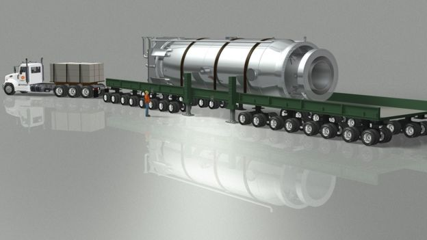 NuScale Power Module section in transit