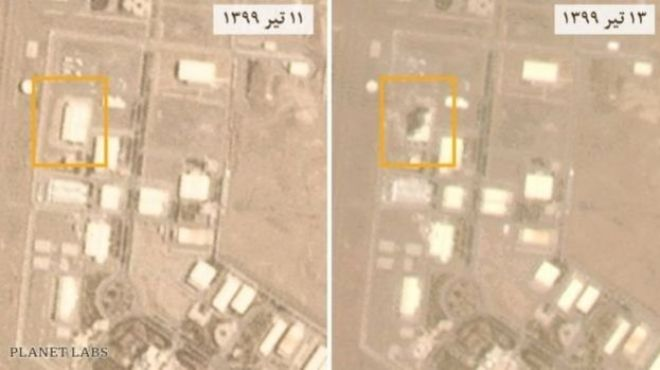 New satellite images one day later and one day before the Natanz facility accident