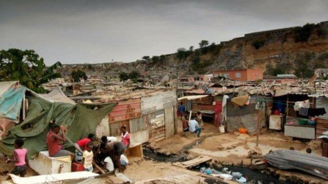 Angolan shanty town