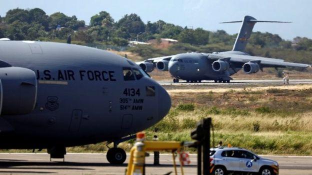Dos aviones de EE.UU. en Cúcuta