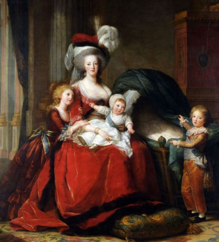 Marie-Antoinette and her children, by Le Brun