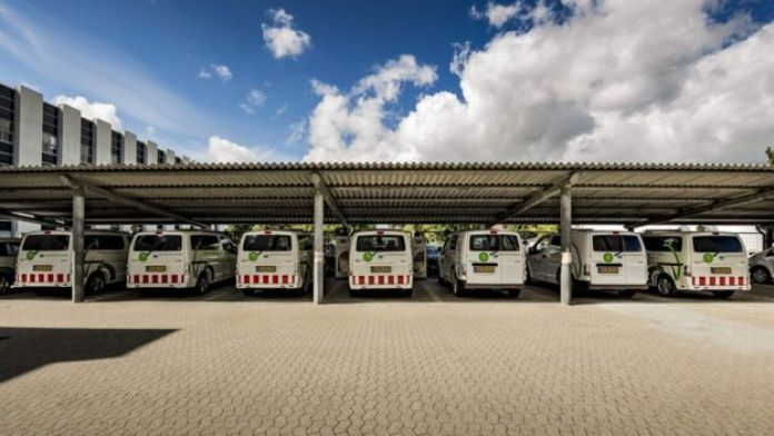 Flota de camionetas de la empresa Frederiksberg Forsyning.
