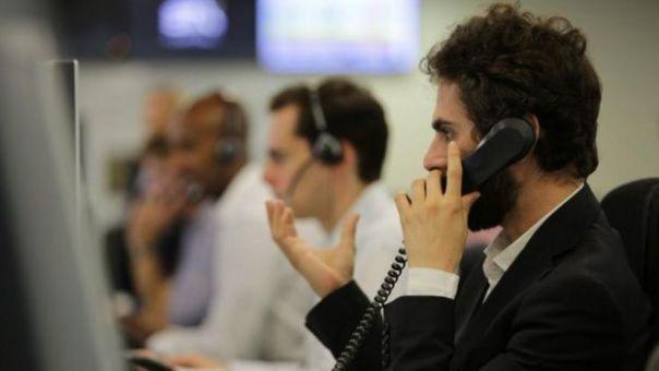 Operadores de Bolsa en Londres