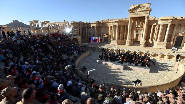 Russian classical concert in Palmyra amphitheatre