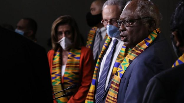 House Majority Whip James Clyburn (D-SC) joins fellow Democrats from the House and Senate