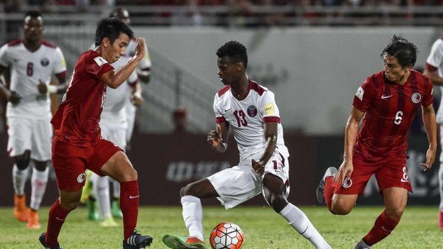 Qatar-Hong Kong football match on 8 September