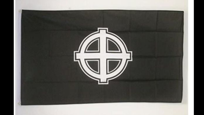 White power flag available to buy on Amazon