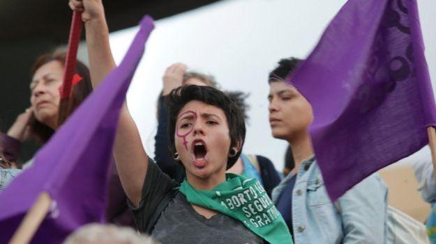 Marcha por el día de la Mujer en San José, Costa Rica.