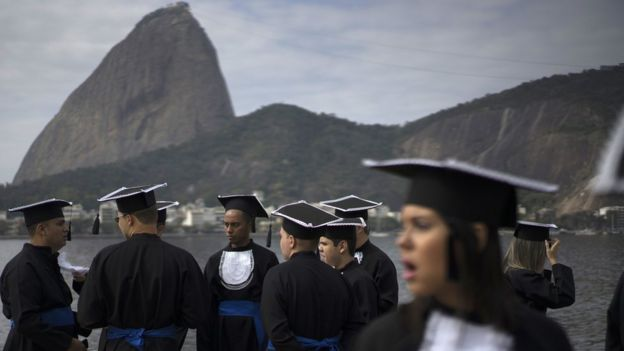 Estudantes no Rio de Janeiro