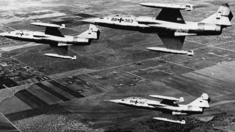 La fuerza aérea alemana perdió casi 300 Starfighters.