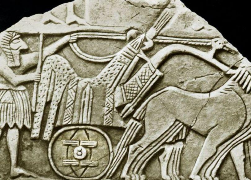 Uma das primeiras representações da roda, em tumbas de faraós na Mesopotâmia