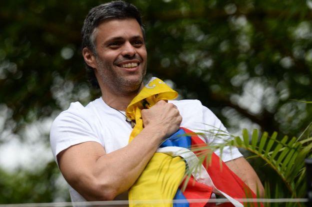 Leopoldo López el día de su liberación.