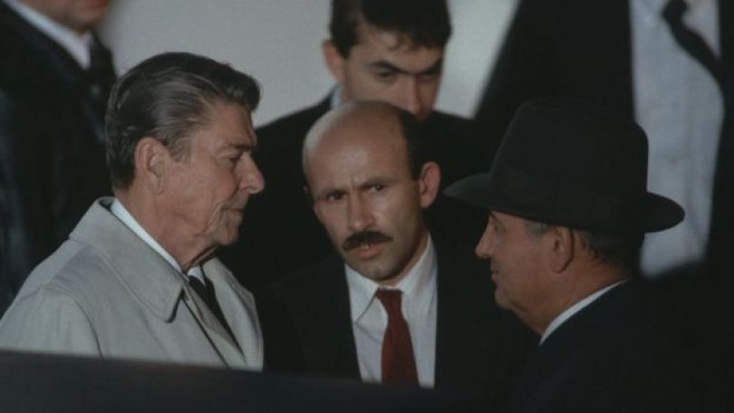Reagan e Gorbachev na Islândia