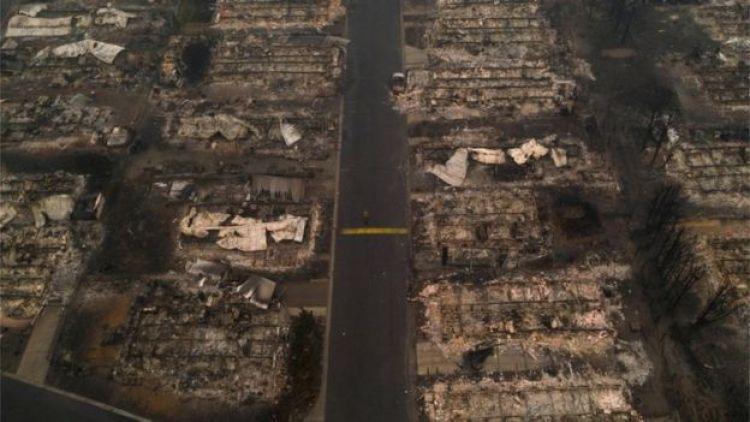 Así quedó todo tras el paso de las llamas en Almeda.