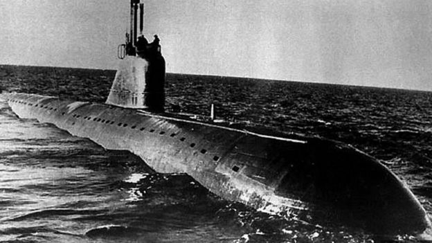 Submarino soviético.