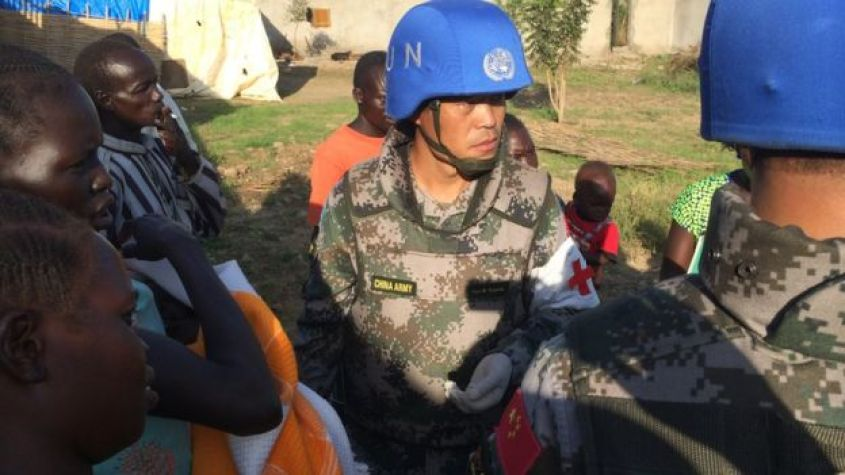Chinese peacekeepers in South Sudan