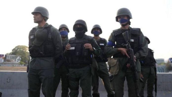 Soldiers in Venezuela, 30 April 2019