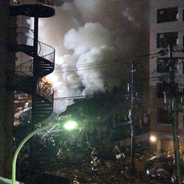 Site of explosion in Sapporo
