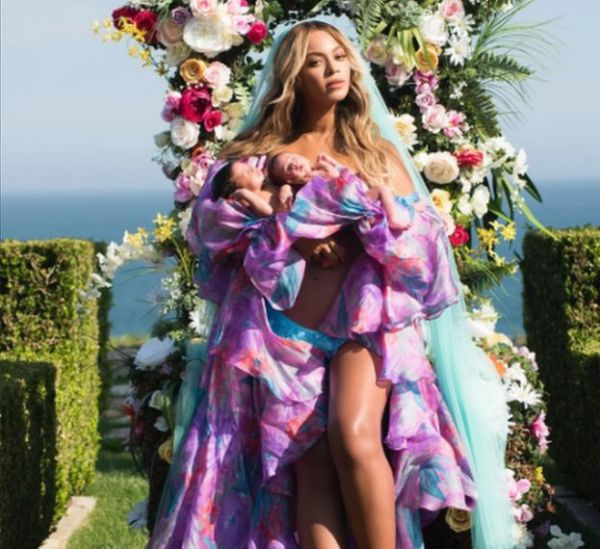 Beyonce with twins