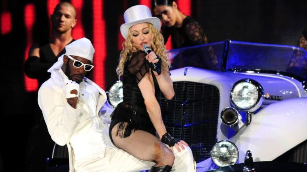 Madonna on tour in 2008