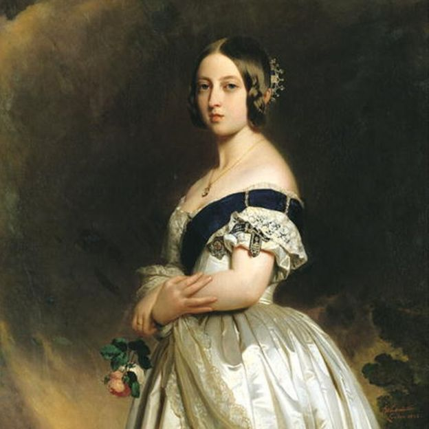 Official portrait of the young Queen Victoria, in 1842, by Franz Xaver Winterhalter