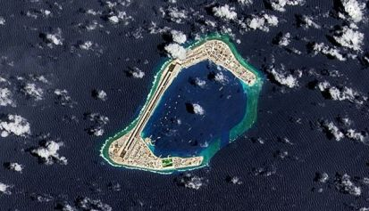 Ilha artificial no Mar do Sul da China