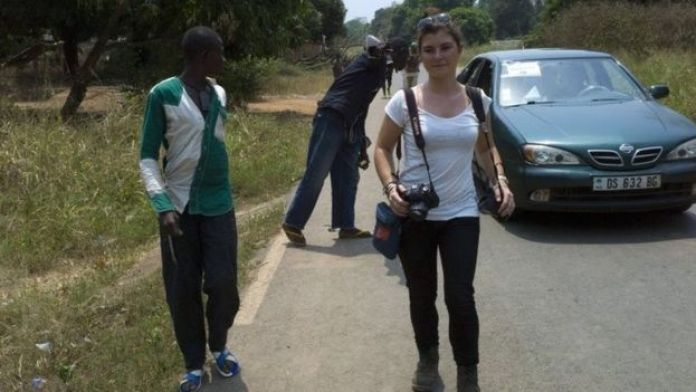 Camille Lepage in Damara, north of Bangui - February 2014