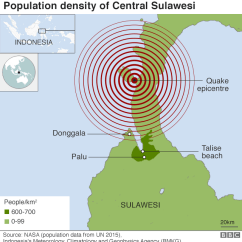Earthquake Diagram With Labels 1997 F150 Trailer Wiring Indonesia And Tsunami Desperate Search For Survivors Map Showing Population Density In Sulawesi Location Of Presentational White Space