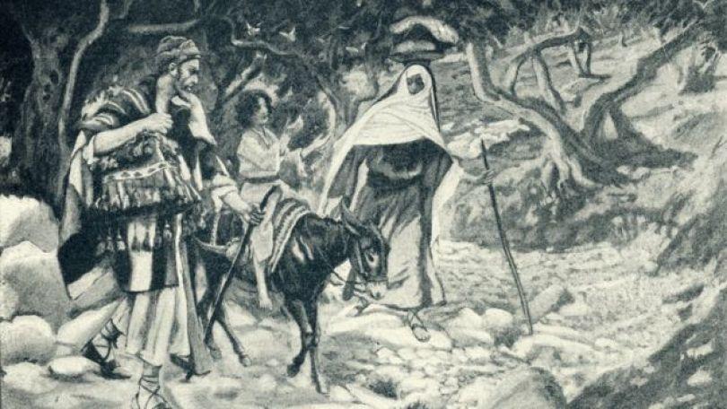 Segundo a tradição, José e Maria viajaram para Belém pouco antes do nascimento de Jesus