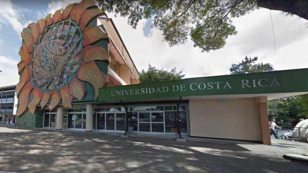 Fachada de la Universidad de Costa Rica.
