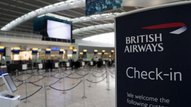 An empty Terminal 5 at Heathrow Airport