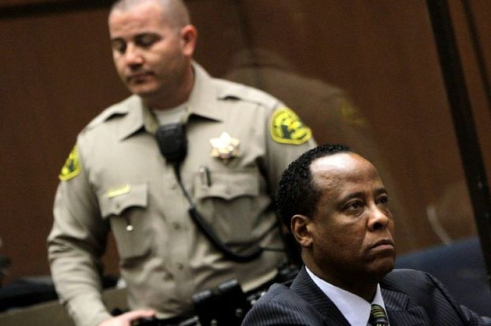 Dr Conrad Murray in court in 2011