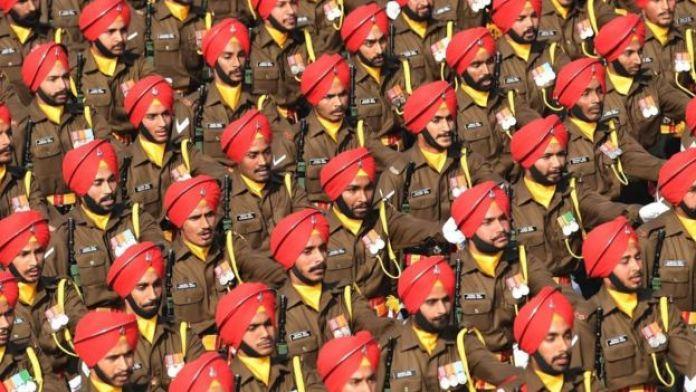 Un défilé de l'armée indienne.