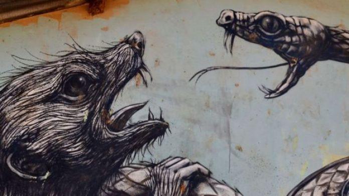 L'artiste et graffeur belge ROA peint les animaux locaux