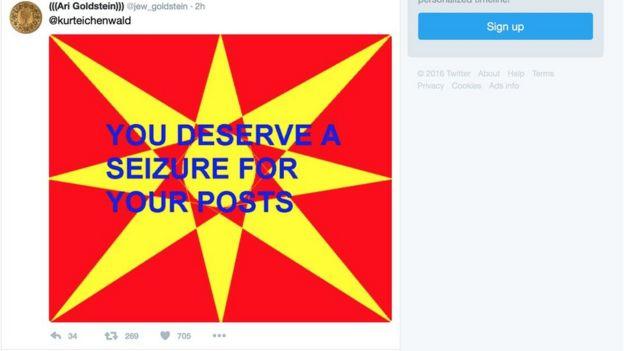 Twitter usuários do twitter estão recebendo imagens que causam surtos epilépticos Usuários do Twitter estão recebendo imagens que causam surtos epilépticos  93032331 twitterscreengrab