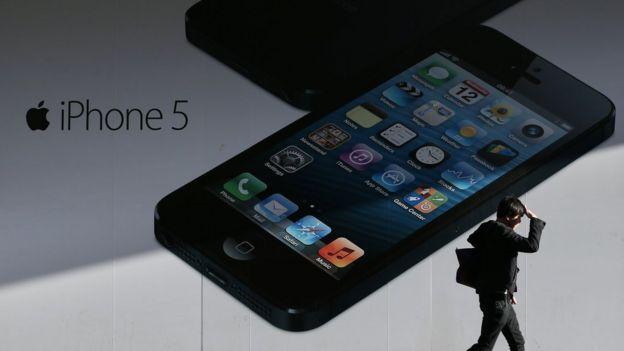 An iPhone 5 advertisement