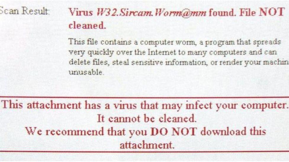 Aviso de detección de virus