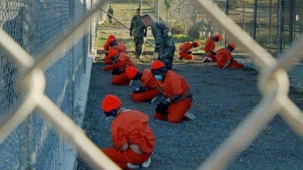Inmates at Guantanamo Bay (file photo)