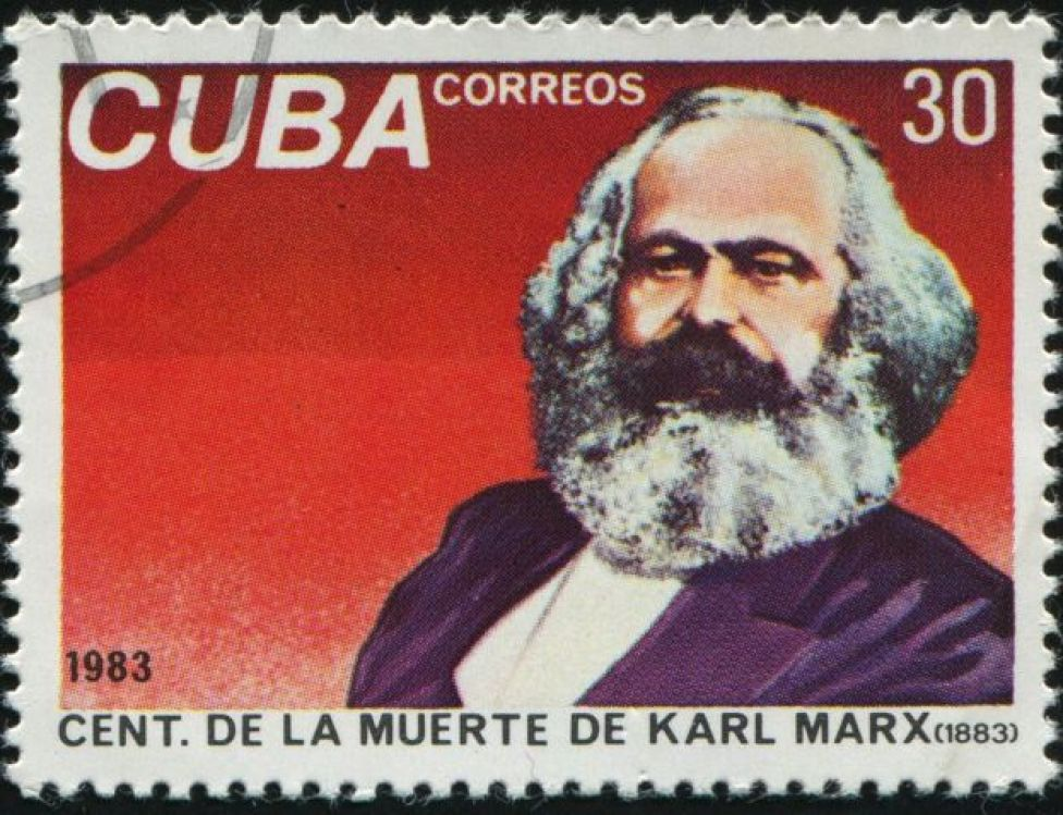 Estampilla de Cuba para marcar el centenario de la muerte de Karl Marx
