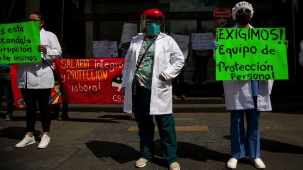 Protesta de personal sanitario en CDMX