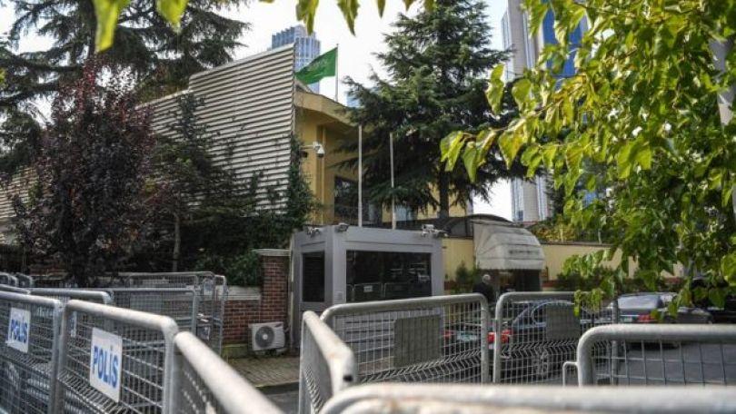 Consulado da Arábia Saudita em Istanbul, na Turquia (em 3 de outubro de 2018)